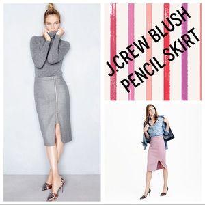 J.Crew Wool Zipper Pencil Skirt